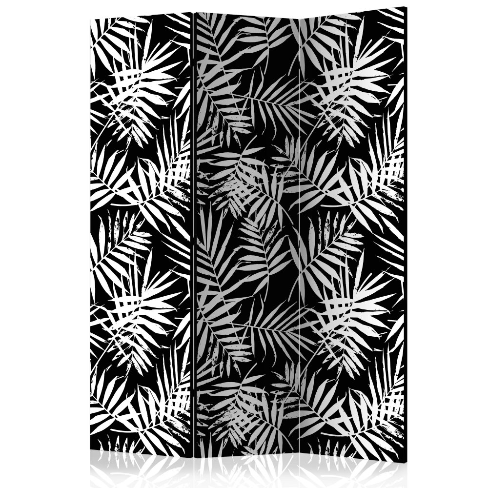 Paraván Black and White Jungle Dekorhome 135x172 cm (3-dílný)