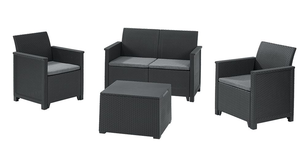 EMMA 2 seaters sofa set - Allibert Grafit