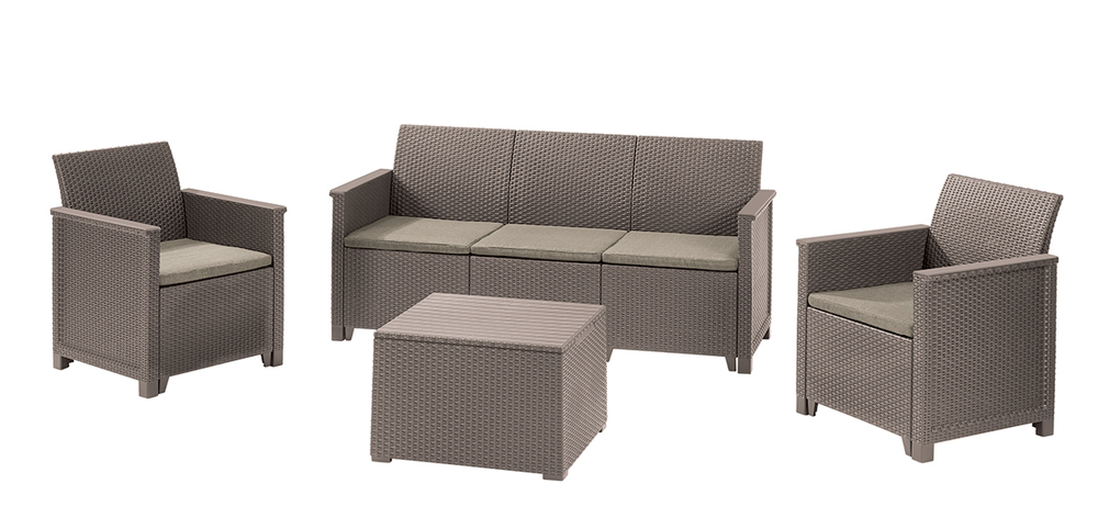 EMMA 3 seaters sofa set Allibert Cappuccino